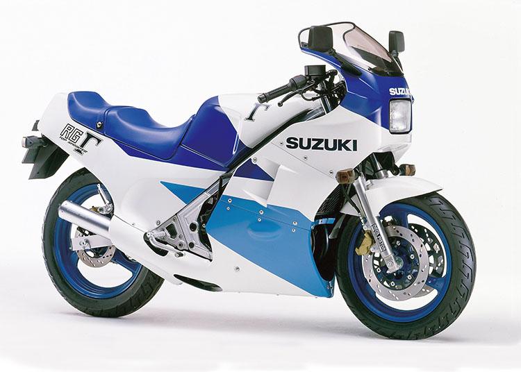 RG250Γ ブルー×ホワイトツートン