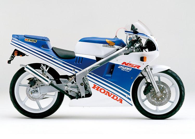 NSR250R テラブルー×ロスホワイト