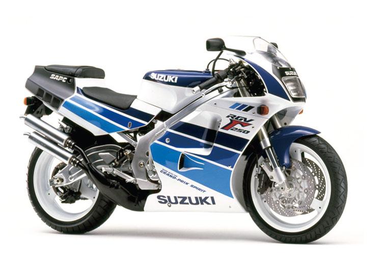 SUZUKI RGV250Γ SP/SPII ブルー・ホワイトツートン