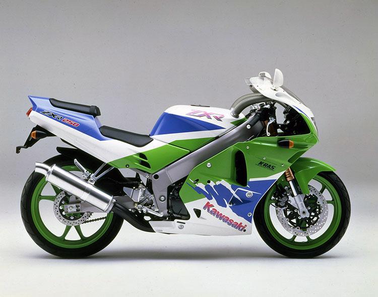 ZXR250R(C3) ライムグリーン×パールアルペンホワイト×ブルー36