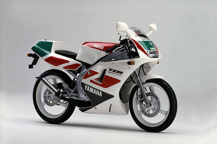 1991年2月 TZR50(3TU2) ホワイト×ビビットカクテル1