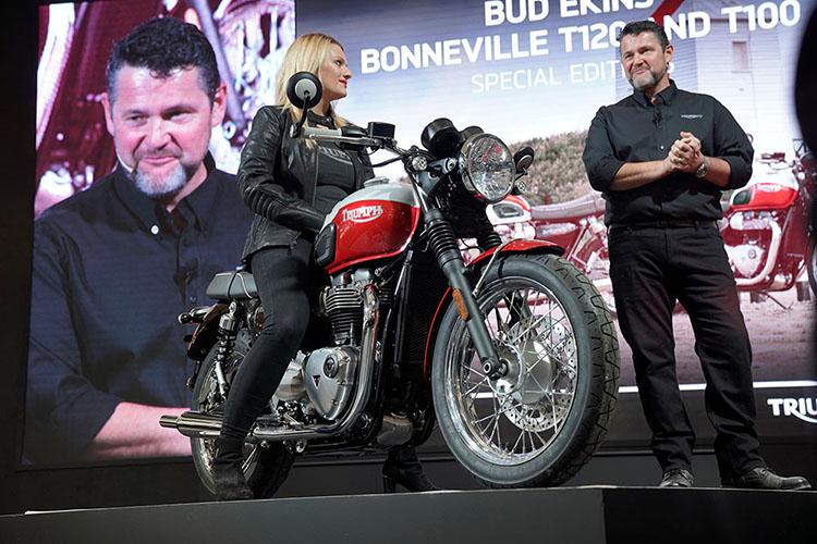 Bonneville T100 Bud Ekinsスペシャルエディション