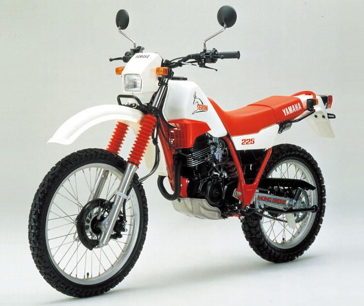 1985年8月1日 セロー225(1KH)ホワイト×ファイヤーレッド
