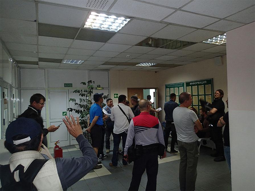 税関の建物の内部
