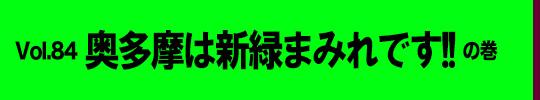 ルリカミドリ バイク好いとっちゃん 第84回 「奥多摩は新緑まみれです!!」の巻