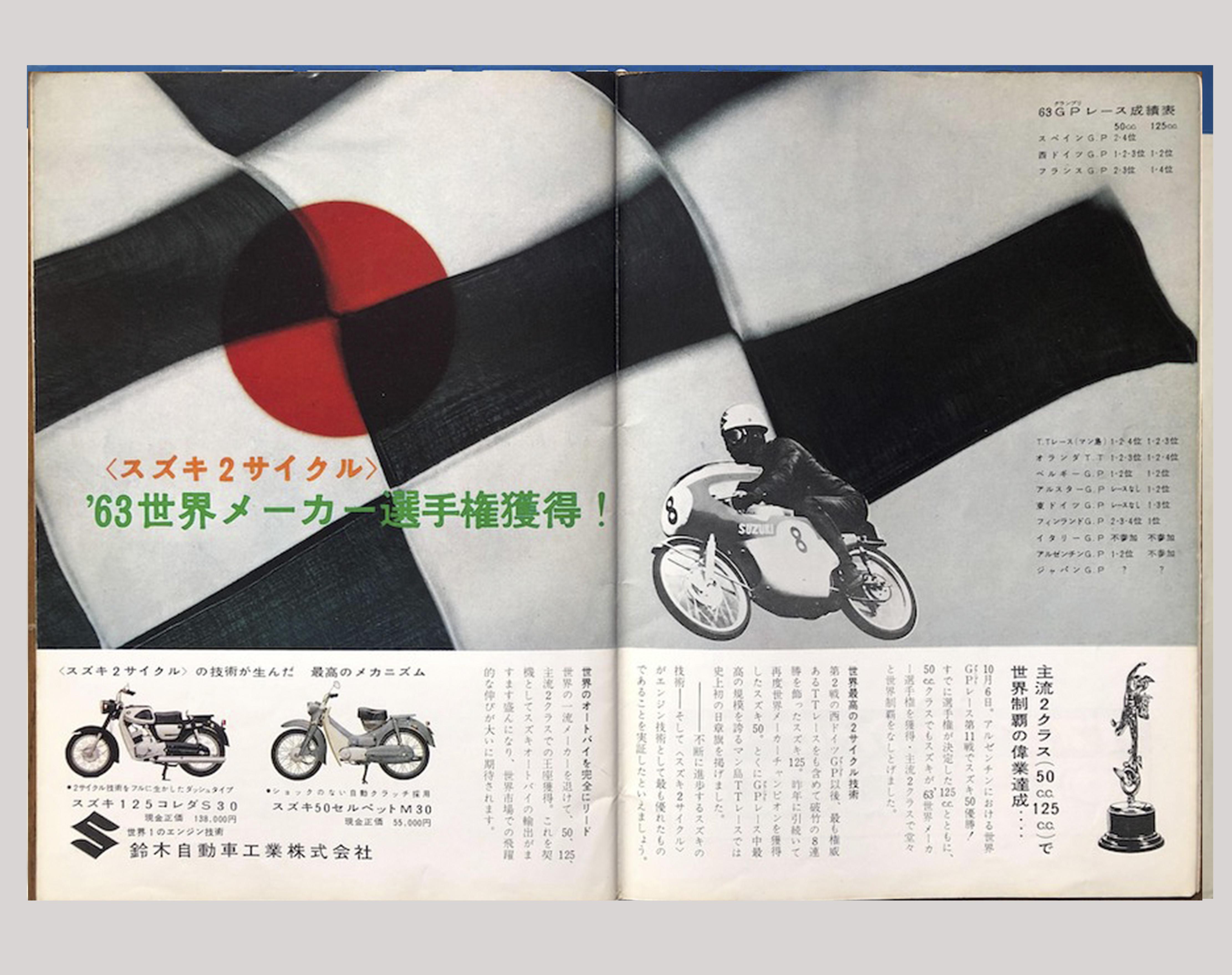 世界チャンピオン獲得の広告