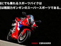 誰にでも乗れるスポーツバイクは 実は戦闘力ギンギンのスーパースポーツである。 HONDA CBR600RR