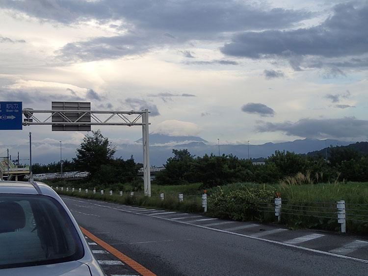韮崎市付近